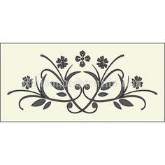 Flourish and Scroll (4) - Maison de Stencils