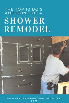 Are you, or your contractor, construction your shower right so it is built to last? In this article get the top 10 do's and don't you need to know so your shower remodel will look beautiful well beyond the day it was first installed. Innovate Building S Bathroom Renos, Bathroom Renovations, Small Bathroom, Master Bathroom, Home Remodeling, Bathroom Ideas, Bathroom Organization, Basement Bathroom, Master Master