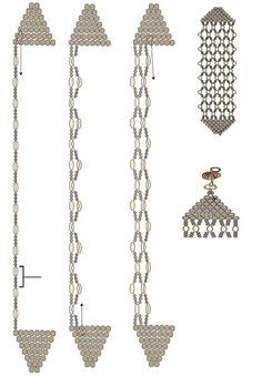 brick stitch and netting bracelet tutorial