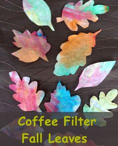 Coffee Filter Leaves - Colorful Fall leaves is an easy and inexpensive classroom project for kids.