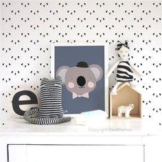 Super cute and playful yet so subtle wallpaper http://petitandsmall.com/cutest-minimal-wallpaper/ #kidsroom