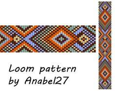 Bead loom pattern - Square stitch pattern - ethnic style - bracelet pattern - beaded pattern #100