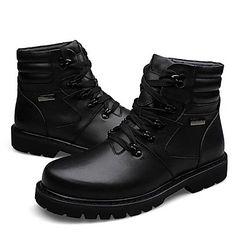 Zapatos de Hombre Botas Casual Cuero Negro 1970188 2016 – $69.99