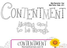 Character Quality: Contentment with free coloring page. Character Qualities, Character Words, Character Counts, Character Trait, Character Development, Bible Lessons For Kids, Bible For Kids, Paul Bible, Quote Coloring Pages