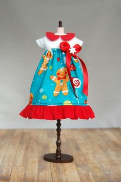 Gingerbread Man Dress by BlytheByBetty on Etsy