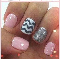 LOVE these pink, chevron, glitter nails!! Super excited I found Jamberry Nails & know how to get these looks now!! www.nataliestewart.jamberrynails.net