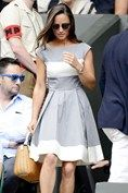 As Andy Murray sets out to defend his title, see who's been watching the action at Wimbledon 2014 Andy Murray, Pippa Middleton, Wimbledon, Celebrity Photos, Womens Fashion, Fashion Trends, White Dress, Culture, Chic