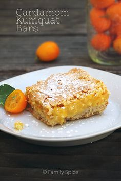 Move over lemon bars. Everyone will swoon over these decadent Cardamom Kumquat Bars.