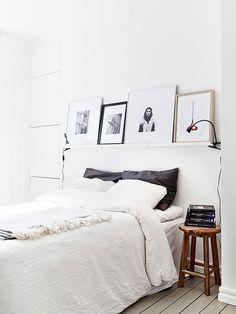 Scandinavian-inspired white bedrooms
