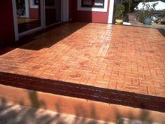 Pavimentos de hormigon impreso en Avila. Terazza de pavimentos de hormigon impreso en Avila.