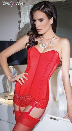5342c21def3 Buy this Zip Front Sweetheart Corset at Yandy.  Yandy Red Corset