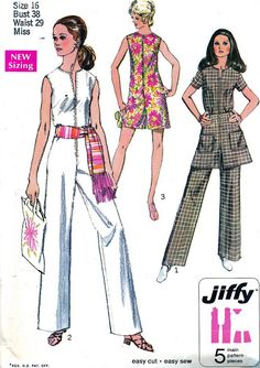 Vintage Sewing Pattern 1970s Simplicity 8745 Jiffy by paneenjerez, $10.00