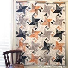 We're back for another Shortcut Quilt, and this time we brought flowers! Fat Quarter Flowers to be exact. The FREE Fat Quarter Flowers Pattern features Halloween Quilt Patterns, Halloween Quilts, Star Quilts, Scrappy Quilts, Quilt Blocks, Boy Quilts, Quilt Patterns Free, Fat Quarter Quilt Patterns, Free Pattern