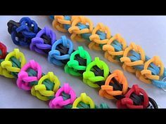 how to make beautiful bracelet with rubber bands - YouTube