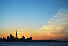Auckland sunset (New Zealand)