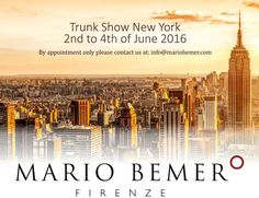 We hope to see you at our trunk show in New York. Mario Bemer comes to Manhattan 2-4 of June. Please contact us at info@mariobemer.com for your  appointment. #shoestyle #menswear  #bespokemakers #oxfords #finestshoes #menshoes #shoemaker #shoemaking #shoestagram #mensstyle #dressshoes #classicshoes #bespokeshoemaker #goodyearwelted #shoeaddict #shoesfortoday #madeinitaly #sartorial #mariobemer #shoesoftheday #sprezzatura #handmadeshoes #gentleman #shoegazing #trunkshow #newyork #manhattan