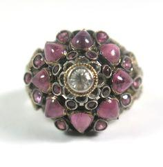 14KYG Antique Vintage Cabochon Pink Sapphire Domed Ornate Statement Ring Sz 5.5 $899 Rare