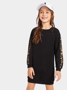 To find out about the Girls Contrast Leopard Sequin Dress at SHEIN, part of our latest Girls Dresses ready to shop online today! Sequin Fabric, Sequin Dress, Nice Dresses, Girls Dresses, Prom Dresses, Kids Party Wear Dresses, Fashion News, Girl Fashion, Teenage Girl Outfits