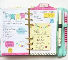 une belle manière d organiser les pages de son planner, modele d agenda customisé, idée DIY sympa, plusieurs couleurs