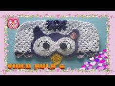 (34) Jogo de Banheiro Coruja de Crochê 6/6 - Capa Caixa Acoplada Coruja - YouTube