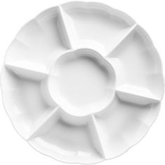 White Plastic Sectional Platter - Party City