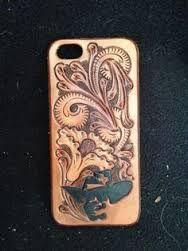 Resultado de imagem para cell phone cases hand tooled leather