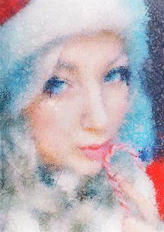 • Snow Maiden snowflake portrait by Arseny Samolevsky