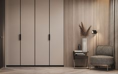 A Cashmere Feel in the Apartment in Berlin by Dezest Design - An interior space designed with a stellar cashmere color palette. Zeitgenössisches Apartment, Apartment Interior, Apartment Design, Home Interior, Apartment Kitchen, Wardrobe Door Designs, Wardrobe Design Bedroom, Cupboard Design, Contemporary Apartment