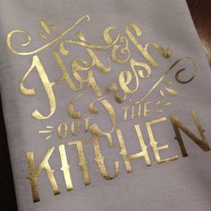 IGNITION Tea Towel (The Remix) - Hot and Fresh Out the Kitchen - R Kelly, Dish Towel, Dish Cloth