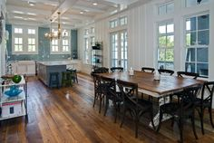 Dream kitchen- Love all the light from the windows & those awesome floors beautiful❤️