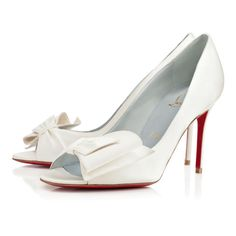 da8f155dd096 Christian Louboutin Just Soon 85mm Off White Satin Women Special-Occasion  Christian Louboutin Shoes
