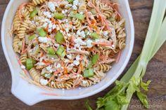 Buffalo Chicken Pasta Salad  - CountryLiving.com