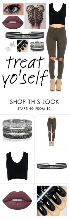 """""""Treat Yo'Self - Ring"""" by kaitlynwolf1828 ❤ liked on Polyvore featuring Bernard Delettrez, Sans Souci, Lime Crime and Disney"""