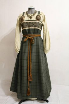 Viking age apron dress by NornasMystery on Etsy.