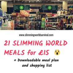 Tesco slimming world shop for - (includes meal plan with 21 slimming world meals!) — slimming world survival Slimming World Shopping List, Slimming World Free, Slimming World Syns, Slimming World Recipes, Iceland Slimming World, Weekly Shopping List, Slimming World Survival, Healthy Extra A, Speed Foods