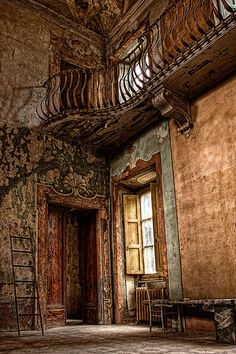 The abandoned Villa Sbertoli in Pistoia, Italy. Once a private residence, it was turned into an asylum by Professor Augustine Sbertoli in 1868, then was used as a political prison under the Fascist government, then an asylum again.