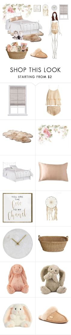 """""""dreamy girl"""" by khanhngan2002 ❤ liked on Polyvore featuring Three Graces, UGG, Pottery Barn, Donna Karan, Oliver Gal Artist Co., House Doctor, Jellycat and Australia Luxe Collective"""