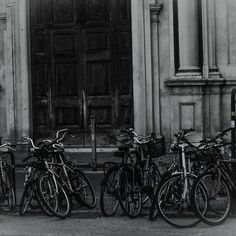 Pile of bikes in Florence