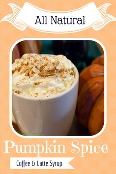 Homemade pumpkin spice latte and coffee syrup in under 10 minutes with only 4 natural ingredients. This is one of my favorite fall recipes!