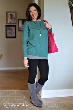 """Fashion Over 40: Yes, you can wear leggings! And 3 other Fashion """"Rules"""" To Break with wearable outfit ideas for real moms."""