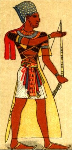 The men would usually wear a loin cloth or wraparound skirt made with linen, and tie a belt around their waist. Costume historians call the skirt schenti, shent, skent, or schent. Here worn with an apron attached to the belt -- old art from the Middle and New Kingdom frequently showing men wearing skirts with large, projecting triangular aprons.