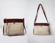 vintage etienne aigner straw shoulder satchel by 1919vintage, $44.00