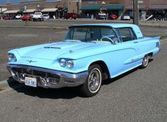 1960 Ford Thunderbird - my sister and I shared this powder blue car in high school. We'd scrape the bottom when we went over the speed bumps in the parking lot!