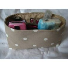 Handbag Tidy - Taupe 'Dotty' Made by Sandibags in #Hampshire - £15.20