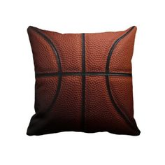 Perfect pillows for you game room or game day couch. Basketball Pillow by ImGEEE on Zazzle.com