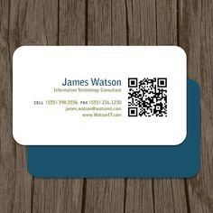 QR Code Consultant or General Business Cards by MalloryHopeDesign - via http://bit.ly/epinner