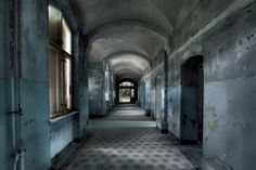 "Rebecca Litchfield Photographer | London Fine Art Photography - Soviet Ghosts. ""BLUE CORRIDOR - GERMANY."""