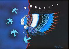 Lonny Cloud (Lumbee) Native American Fine Art Giclee by ThunderPuppyArt