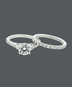 Macy's - engag ring/wedding ring set - also very nice and very inexpensive :)