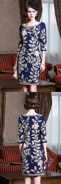 Only $76.99, Wedding Guest Dresses Navy Blue Leaf Pattern Formal Weddings Cocktail Party Dress For Women #ZL8116 at #GemGrace. View more special Cocktail Dresses,Wedding Guest Dresses now? GemGrace is a solution for those who want to buy delicate gowns with affordable prices, a solution for those who have unique ideas about their gowns. High quality Classy the Guest collection new arrived, shop now!